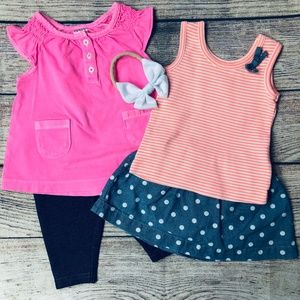 Baby Girl sz 3m Carter's 5pc set